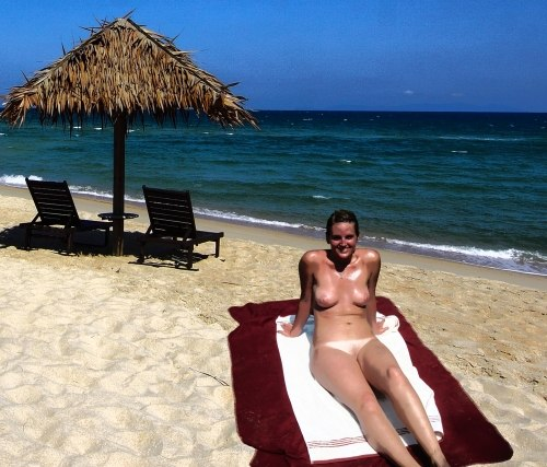 enjoying one of the naturist beaches Spain
