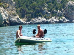 Naturist boat trip find secret beach
