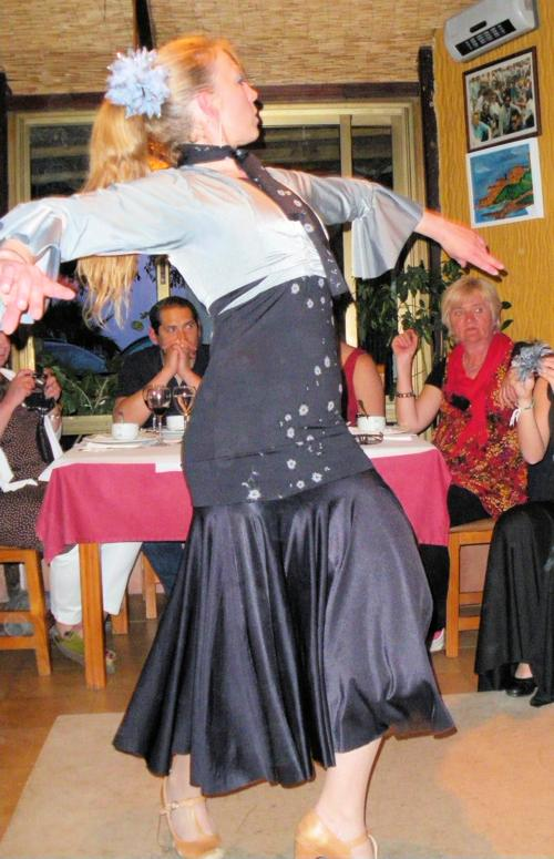 Watching flamenco dancing Almunecar