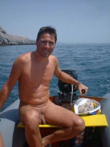 Naked boat trip