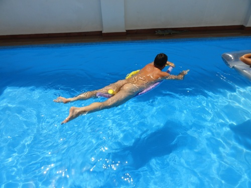 Naturist swimming pool