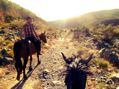 horse trekking at pegasus riding centre southern Spain